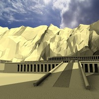 hatshepsut temple 3d model