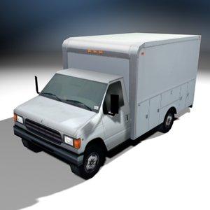 3d utility cargo truck van model