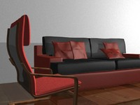 sofa armchair 3d max