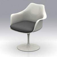 tulip arm chair 3d model
