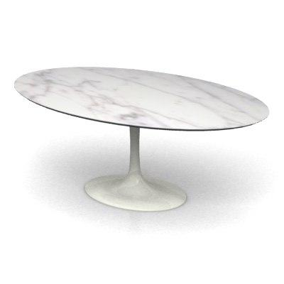 saarinen oval table 3d model
