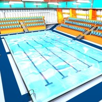 indoor swimmingpool 3d model