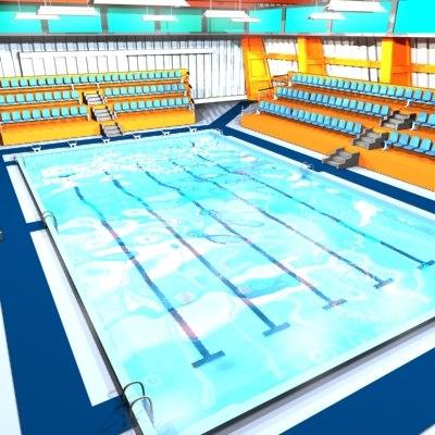 indoor swimmingpool 3d model