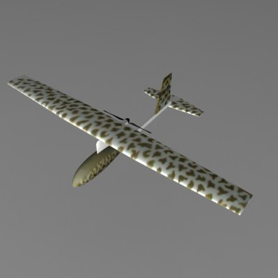 3d model raven uav aircraft plane