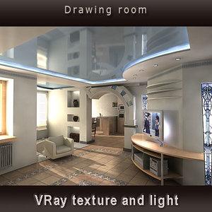 modern stylization design drawing 3d model