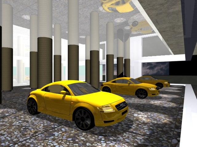 3d model showroom