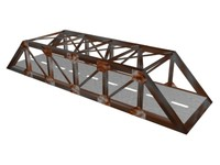 rusty bridge 3d max