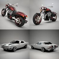 67 motorcycle 3d model