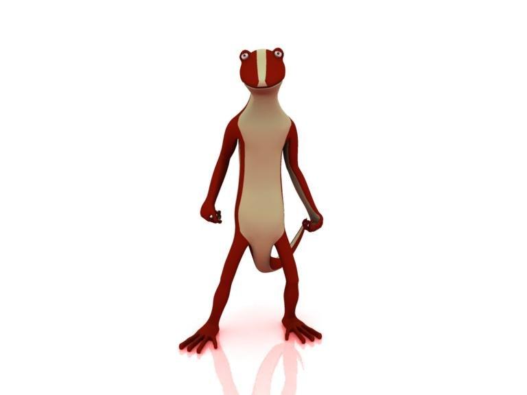 lizard - character 3d model