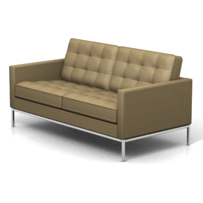 3d model florence knoll 2 seat