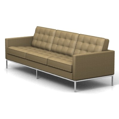 3ds florence knoll 3 seat
