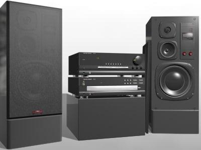 3d hi-fi stereo studio model