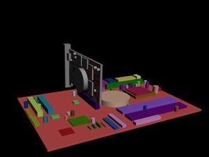 mainboard video card 3d model