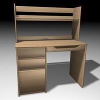 3ds max desk drawers bedroom