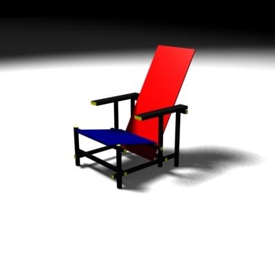 rietveld chair 3d model