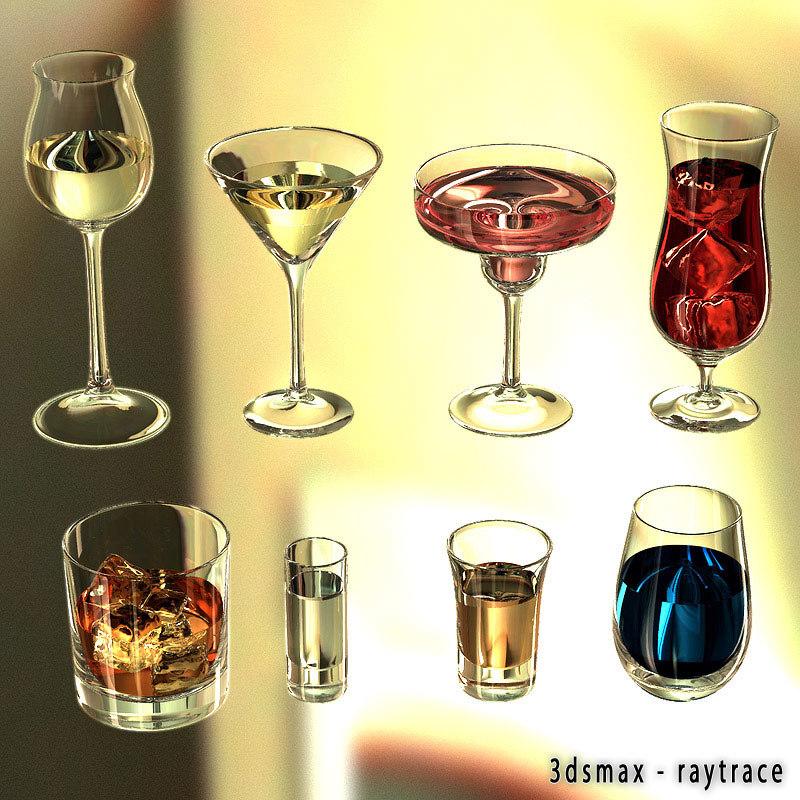 max liquor glasses 2 materials