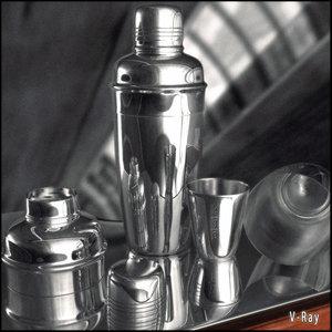shaker glasses materials 3d model