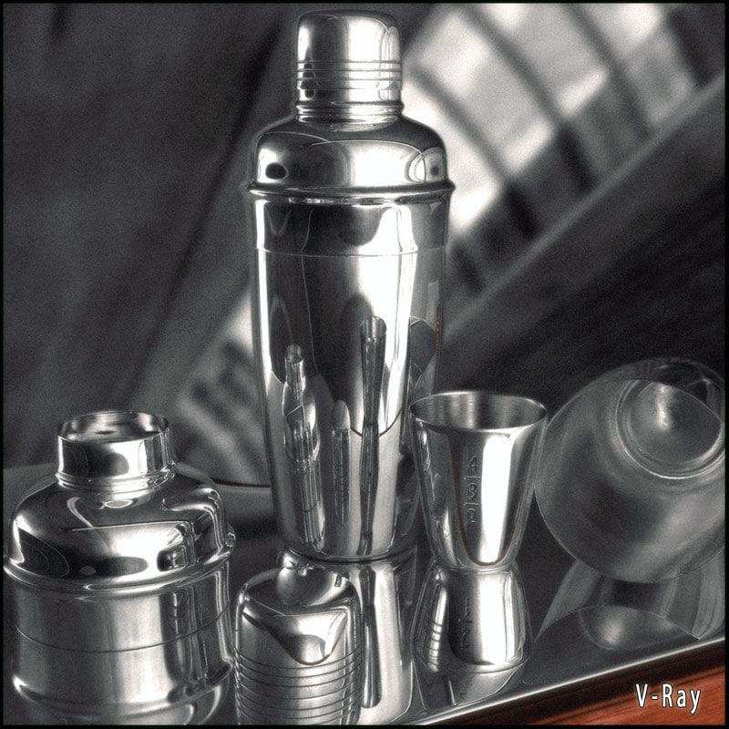 3d coctail shaker materials model