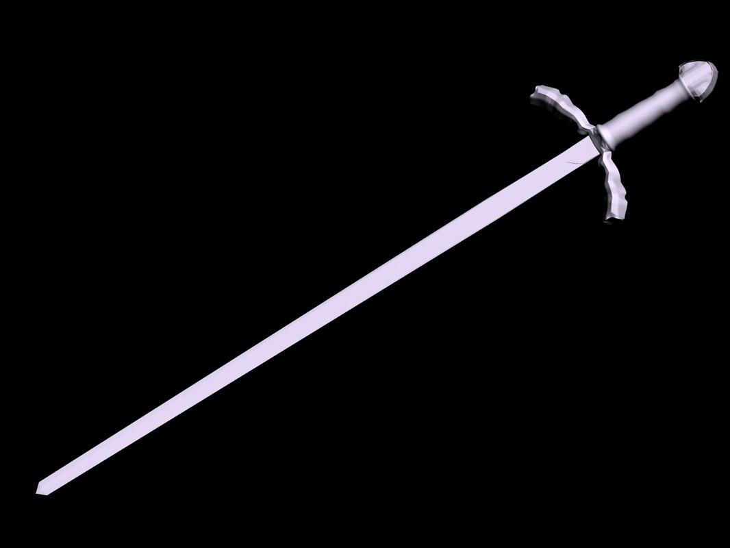 free sword lionheart 3d model