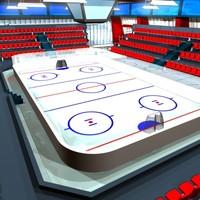 icehockey arena 3d max