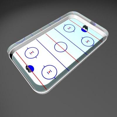 icehockey rink 3d obj