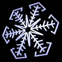 003 snowflake snow 3d 3ds