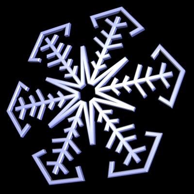 003 snowflake snow 3d 3ds