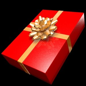 3d gift holidays bow