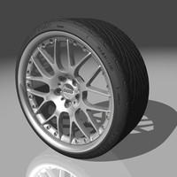 bbs rx2 tires 3d model