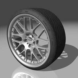 bbs rx2 tires 3d model