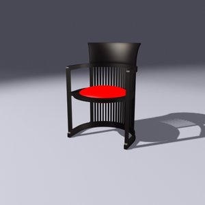 3d model chair mackingtosh