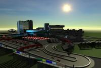 long beach race track 3d model