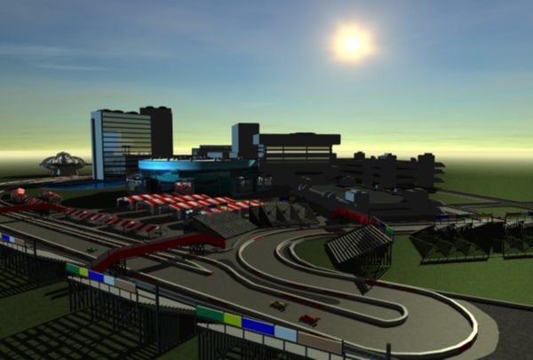 long beach race track 3d model