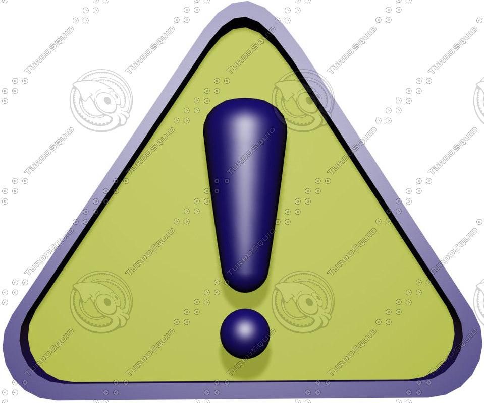 max warning symbol