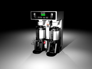 3d coffee brewer model