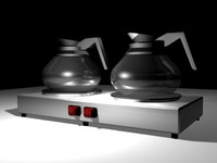 coffee warmers 3d model