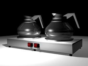 coffee warmers 3d model