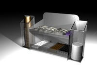 3ds cup condiment rack