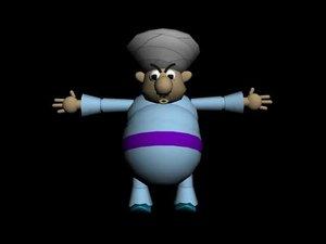 fat arab 3d model