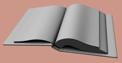 opening book 3d model