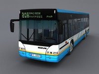neoplan 4416 bus interior 3d model