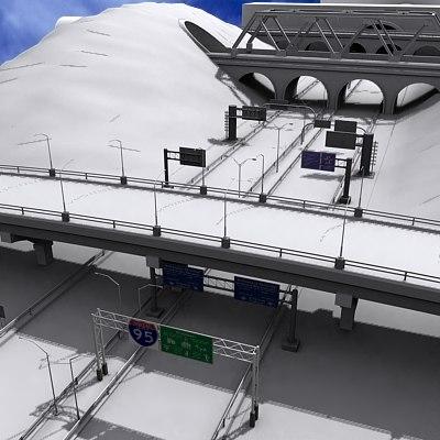 motorway builder 3d model
