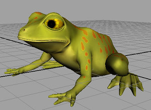 stylized frog 3d model