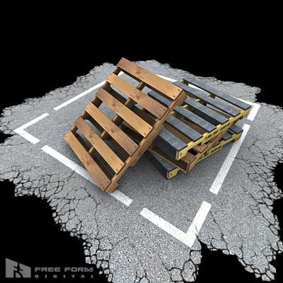 3ds max wood pallet