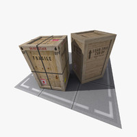 3ds max shipping crate