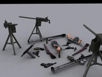 WW2 WEAPON SET (8 guns)