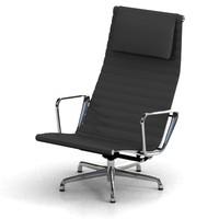 3d model eames aluminum chair