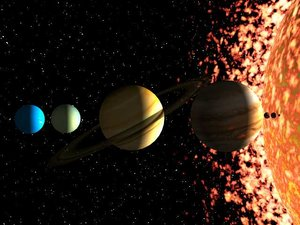sun planets 3d max