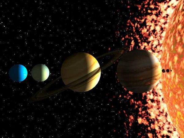 sun planets 3d max