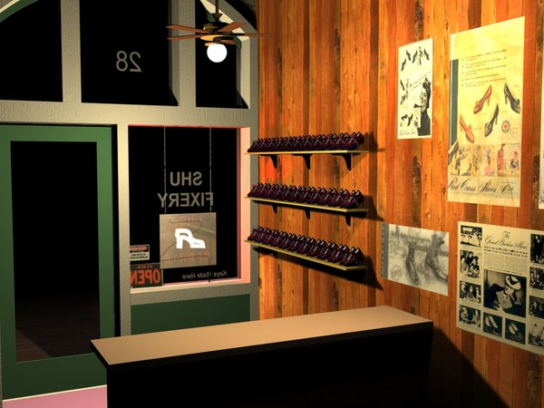 3ds max shoe store